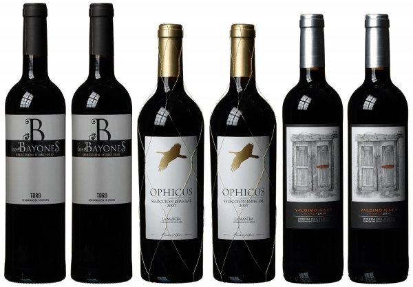 Spaniens beste Rotweine aus den Top Regionen (6 x 0.75 l) für 44,9 Euro