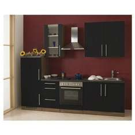Mebasa MCUKB27NG Küche Küchenzeile mit Elektro Geräten Nussbaum Grau, 1177,99 EUR @ amazon