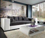XXL-Sofa Marlen 300x140 cm Weiss Schwarz Big Sofa, 759,05 EUR @ delife