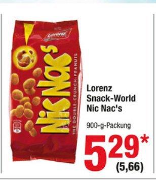 [Metro Vorabankündigung] Lorenz NicNac´s 900 Gramm Packung für 5,66€ /0,63 Cent pro 100 Gramm ab dem 21.05