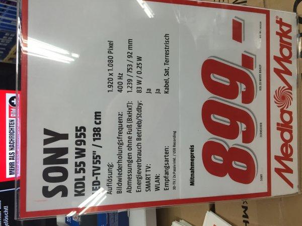 [lokal?] Media Markt LB Breuningerland Sony KDL 55 W955B LED Fernseher für 899€ (Idealo 1247€)