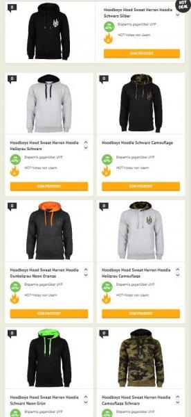 [Dealclub] Hoodboyz Hood Sweat Herren Hoodie in 7 verschiedenen Ausführungen für je 19,90€. Bei Kauf von 2 Stück zusätzlich 10% Rabatt.Versandkostenfrei