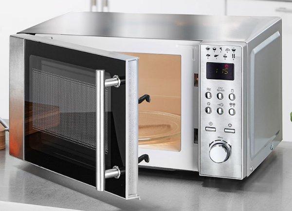 Norma 24 - Powertec Kitchen Edelstahl-Mikrowelle MG1016