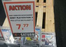 (Lokal Saturn Darmstadt) Little Big Planet 3/Singstar Ultimate Party (PS3) für je 7,77€