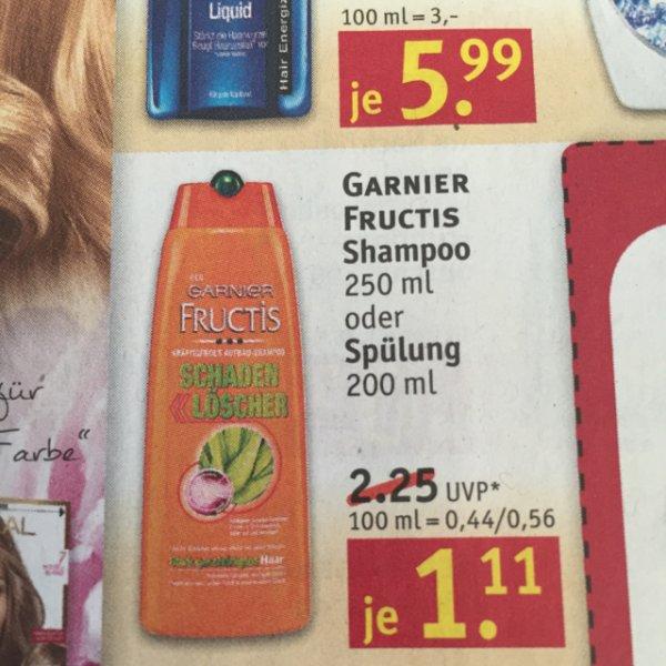 [Rossmann] Garnier Fructis Shampoo o. Spülung 1,11