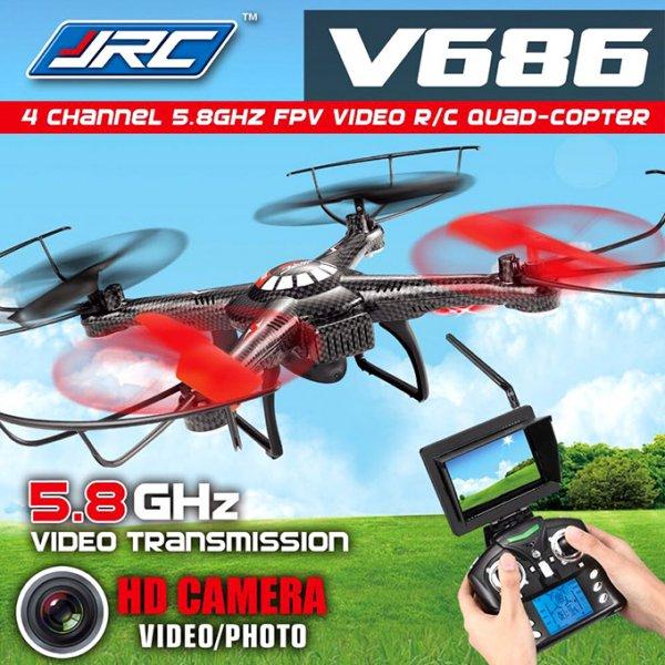 @Aliexpress JJRC V686  Quadcopter mit HD-Kamera und LCD-Monitor