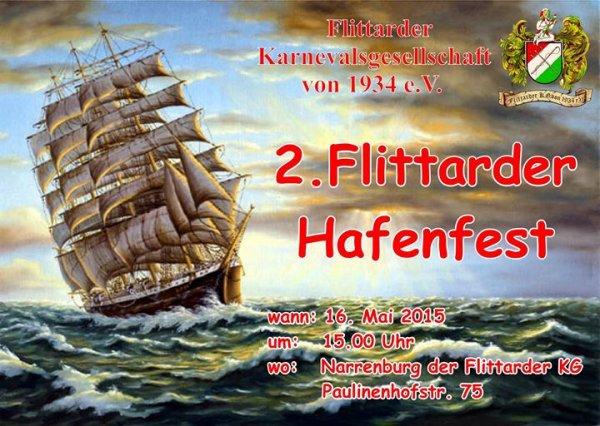Köln - Flittard : 16.5.2015  ab 15 Uhr - 2. Flittarder Hafenfest  - freier Eintritt