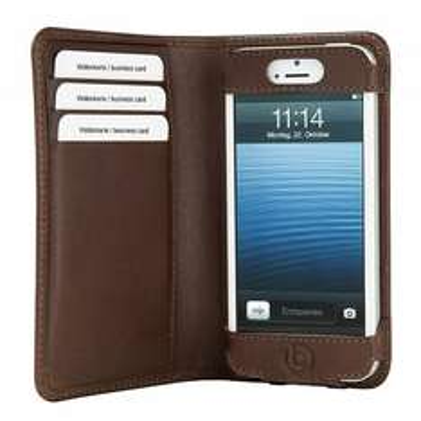 [Cyberport] bugatti Smart BookCase für iPhone 5 braun / Echt leder 7,89€ inkl. Versand / Idealo: 20,44€