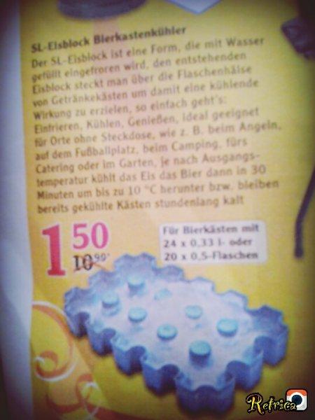 Globus Sl- Eisblock bierkastenkühler Für Top preis 1.50€  Statt 10.99 €