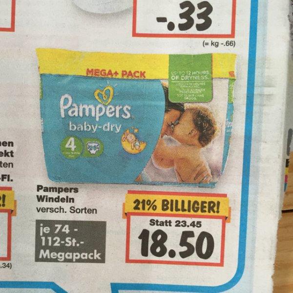 Pampers baby-dry Mega+ pack lokal Kaufland vom 21.-23.05.