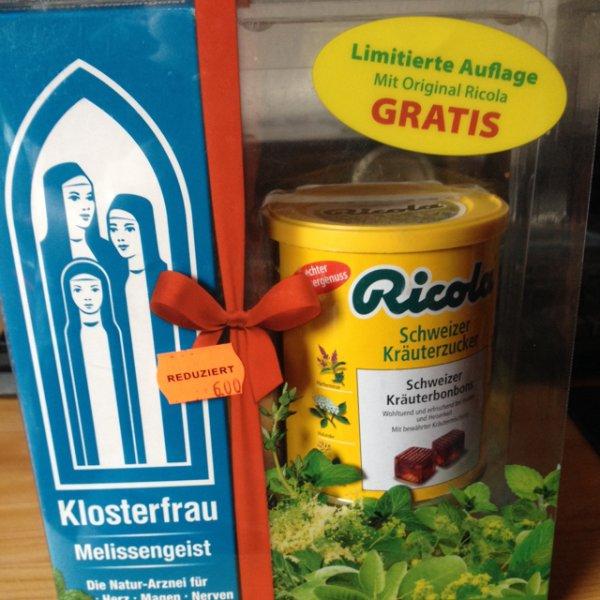 Klosterfrau Melissengeist (235 ml) + Ricola Kräuterzucker für 6€ statt 12,59€ [Rewe Bremerhaven]