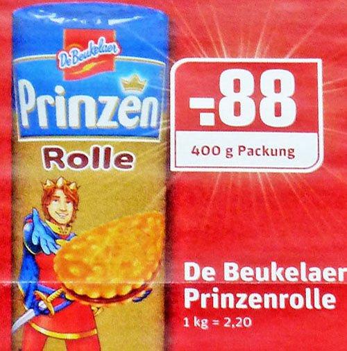 Bestpreis für die De Beukelaer Prinzen Rolle von nur 88 Cent! bei [REWE_Dortmund / Ruhrgebiet und Kaufpark]