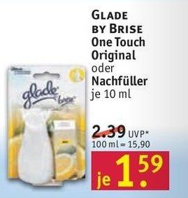 [Rossmann] glade by brise one touch Lufterfrischer vers. Sorten 10ml 1,59€ (ab 18.05.)