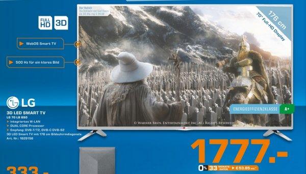 [Lokal Saturn Bremen-Habenhausen] LG 70LB650V für 1777€ (idealo 1899€)