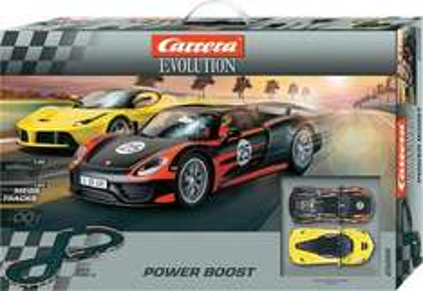 Carrera 20025206 Evolution Start-Set / Power Boost - 5,3 Meter, Inkl. 2 Fahrzeugen für 88,71€ inkl. Versand @digitalo.de