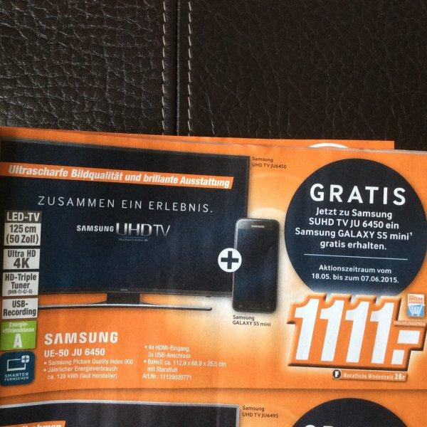 Samsung UE-50 JU 6450 mit S5 mini 19% unter Idealo - Expert - Lokal?
