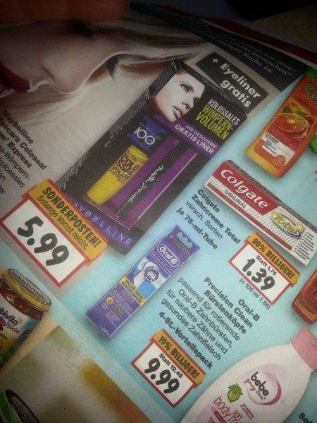 Kaufland KW21: Maybelline Mascara Colossal Volum' Express + Eyeliner für 3,99€ (Sonderposten + Coupon)