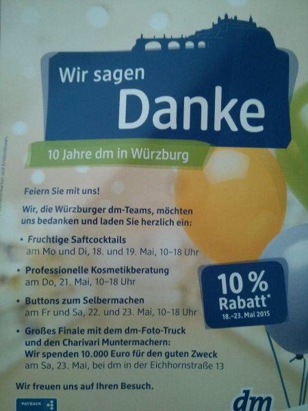 Würzburg: 10% Rabatt bei DM