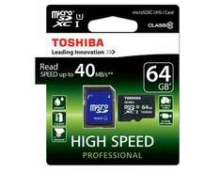 [Allyouneed] Toshiba microSDXC 64GB Class 10 / UHS I inkl. Adapter für 20,99€