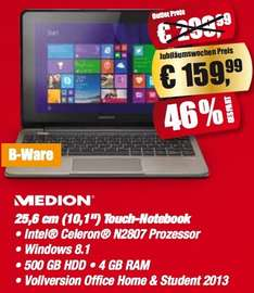 "Lokal / Essen - Medion Touch Notebook 10,1"" inkl. Office Vollversion (B-Ware)"