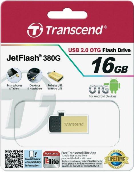 Micro-USB 16GB Stick für Smartphone/Tablet Transcend J380 (bei Voelkner Vsk-frei Aktion für 7,20€)