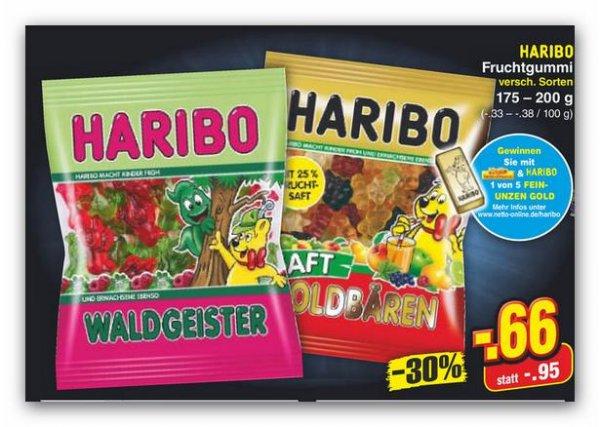 Haribo Fruchtgummi für 0,66€ bei Netto (ohne Hund) ab Do.    (Scondoo möglich)