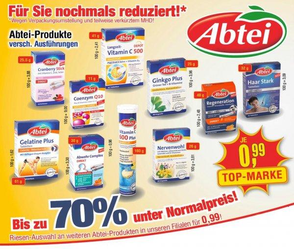 [CENTERSHOP NRW/RP] 2. Preisrunde: Viele Abtei Produkte bis zu 70% zum Normalpreis (kurzes MHD) für 0,99€