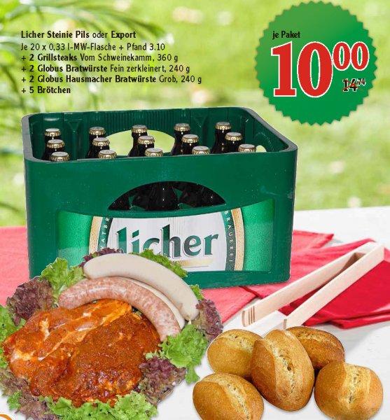 [lokal] Globus Wiesbaden: 20 Licher + 2 Steaks + 4 Bratwürste + 5 Brötchen für nen 10er