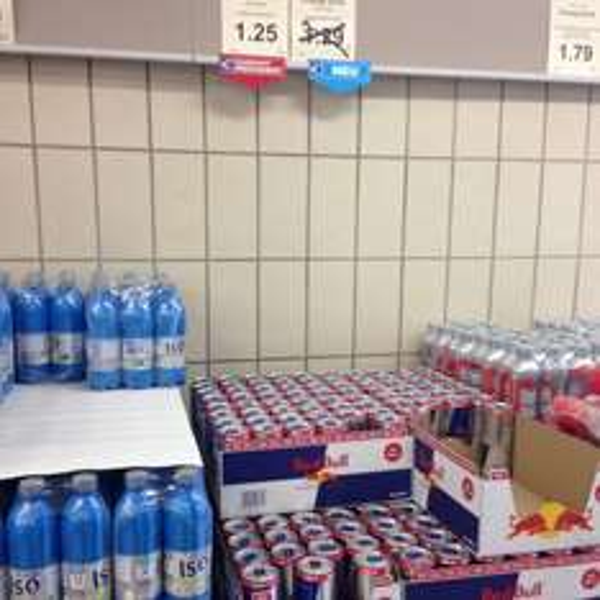 Aldi Bochum Red Bull 0,33 für 1,25€