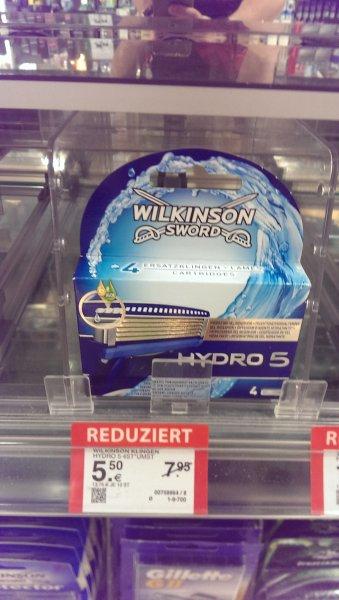 [Müller bundesweit] Wilkinson Hydro KLINGEN (4 Stk.) für 1,95€ (0,49€/pro Klinge)