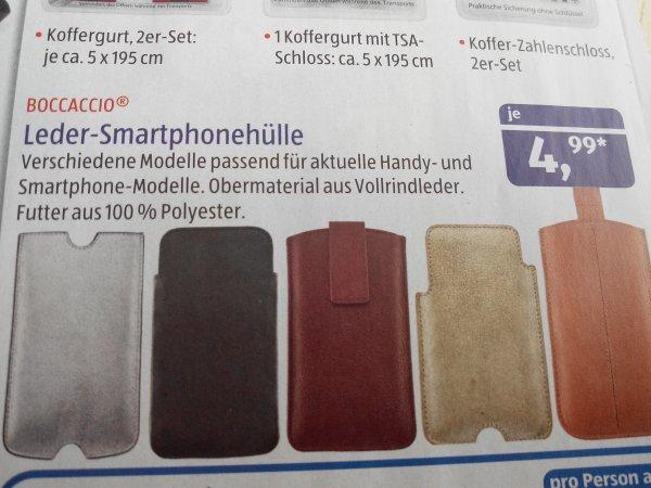 (Aldi Süd ) Leder Smartphonehülle für 4,99 Euro