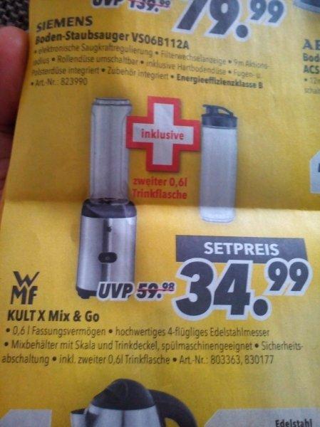 [medimax - bundesweit] WMF Kult X Mix & Go + zweiter Trinkflasche - perfekt für Smoothies Zubereitung