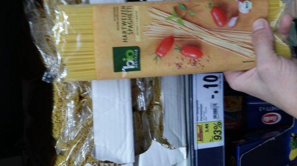 Kaufland Backnang (BW) Bio-Spaghetti für 10 Cent
