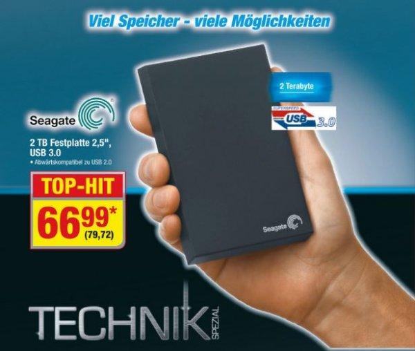 "Seagate 2TB USB 3.0 Festplatte 2,5"" [Metro ab 28.05-10.06.2015]"