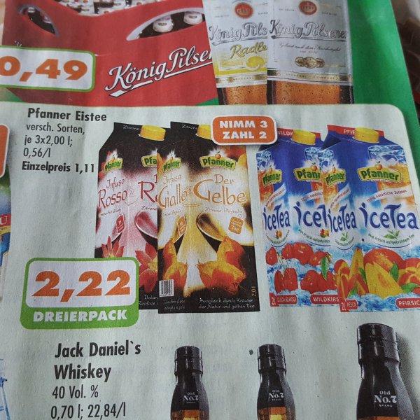 [Trink & Spare in Essen] Pfanner Eistee 3x2l für 2.22