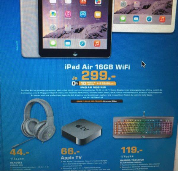 Saturn Leverkusen Apple iPad Air 16GB für 299€ und Apple TV für 66€