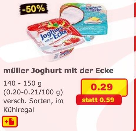 (offline) der Joghurt mit der Ecke bei Netto Markendiscount für 0,29€ (50% Ersparnis)