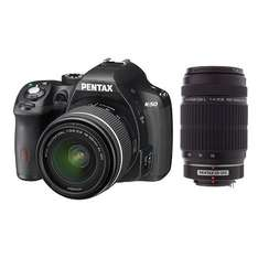 Pentax K-50 Kit 18-55 mm WR + 55-300 mm WR für 515,95€ @Amazon.fr