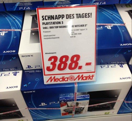 PS4 mit The Witcher 3 - MM Mannheim für 388 EUR