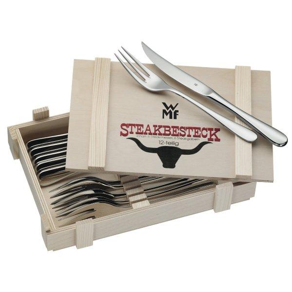 WMF Steakbesteck 12-teilig in Holzkiste für 26,99€ @voelkner.de