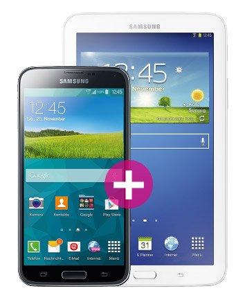 Telekom MagentaMobil M - Samsung Galaxy S5 LTE+ + Galaxy Tab 3 7.0 Lite Wi-Fi Gratis