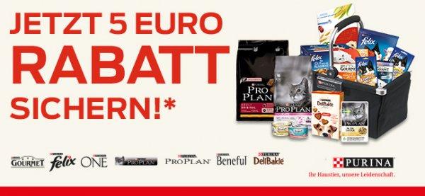 Purina Tiernahrung kaufen im Wert von 20 Euro und 5 Euro zurück erhalten