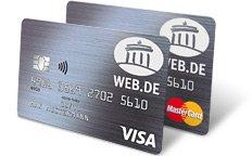 Web.de (Club): BarclayCard VISA & Mastercard Kreditkarten-Doppel - dauerhaft beitragsfrei + 75€ Bestchoice Prämie oder Toline Shine