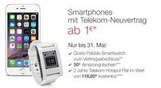 Amazon Pebble Smartwatch zu jedem Telekom Handy Vertrag