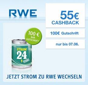 [QIPU] RWE: 55€ Cashback + 100€ Bar Gutschrift für deinen Strom oder Gas Wechsel
