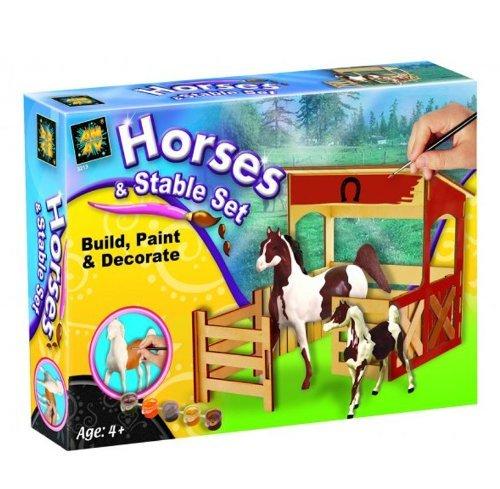 [Amazon-Prime] Pferdchen mit Stall zum  Basteln und bemalen