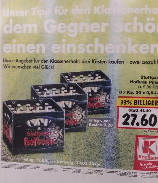[Lokal Stuttgart] Stuttgarter Hofbräu - 3 Kisten zu 27,60 Euro - macht 9,20 Euro pro Kiste