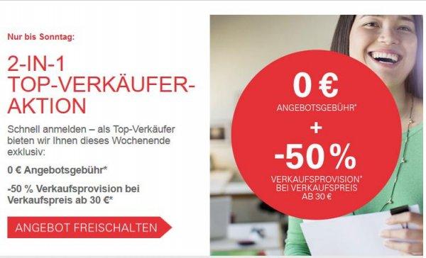 [eBay] 0€ Angebotsgebühr und -50% auf die Verkaufsprovision dieses Wochenende