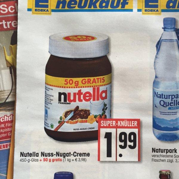 [Edeka-Bundesweit] NUTELLA 500g für 1,99€