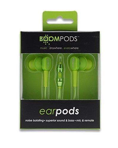 BOOMPODS In-Ear Headphone mit Mic/Remote grün oder blau für 10,29€ mit Prime @amazon.de